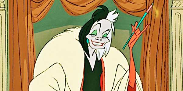 Cruella de Vil en la animación de Disney de 1961