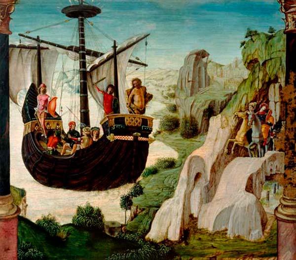 Pintura del Argo de Jasón del artista Lorenzo Costa