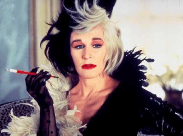 Glenn Close como Cruella de Vil en 101 dálmatas de 1996