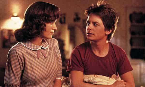 Marty McFly con su madre