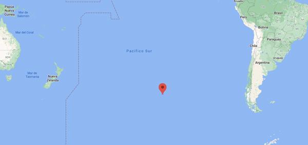 La ubicación de las coordenadas del Punto Nemo