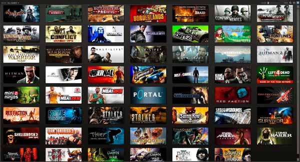 Catálogo de videojuegos de la plataforma Steam