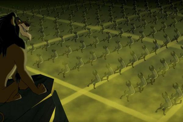 Parte de la escena de Be Prepared