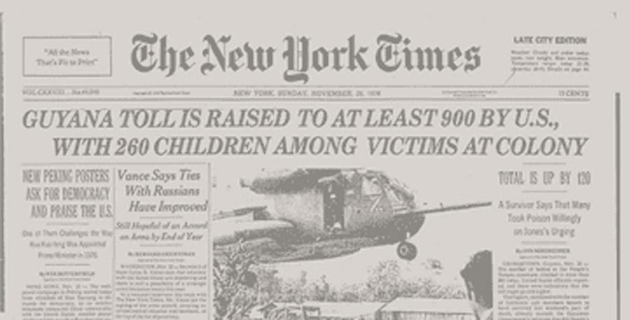El caso de Jonestown, el mayor suicidio colectivo de la historia