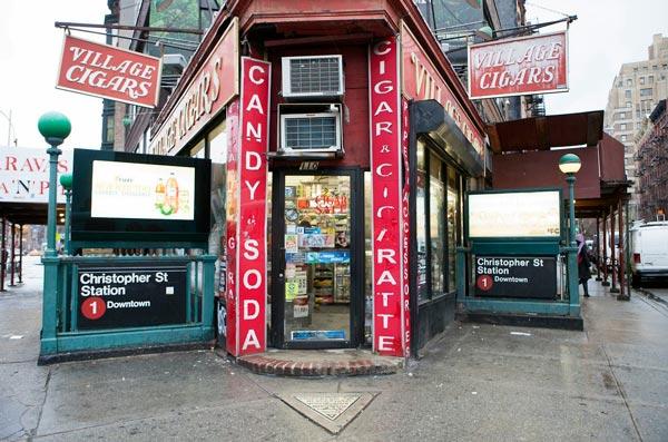 Esquina del triángulo de Hess, propiedad actual de la tienda Village Cigars