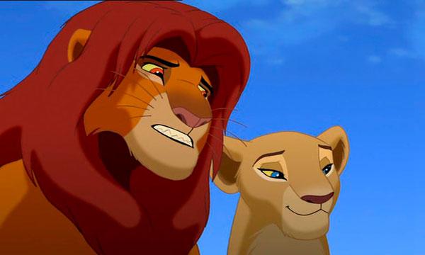 Nala y Simba como Hamlet y Ofelia