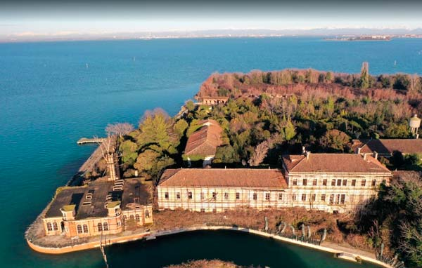 Fotografía aérea de la isla
