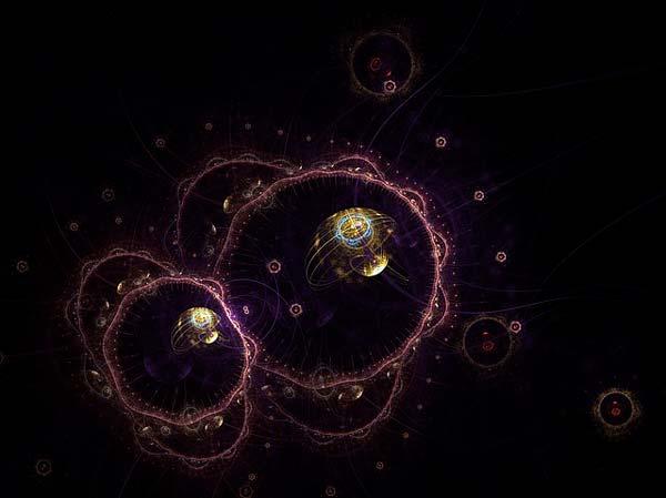 Representación de partículas subatómicas