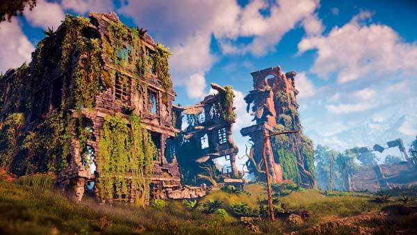Las ruinas de la civilización moderna en el futuro