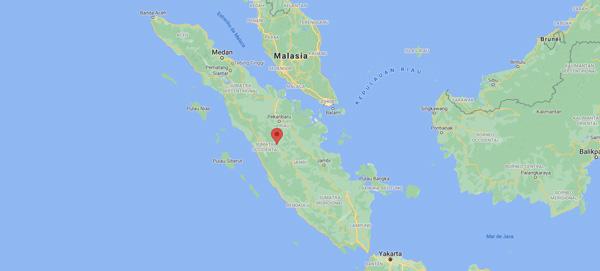 Isla de Sumatra, en Indonesia