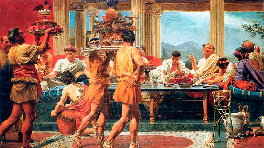 El cótabo entre las costumbres cotidianas de la Grecia Antigua