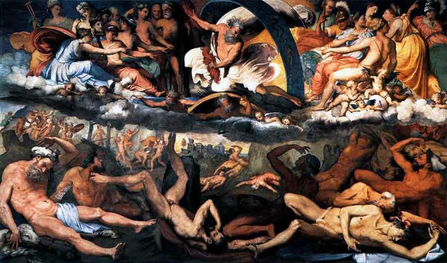 El mito griego de la Titanomaquia