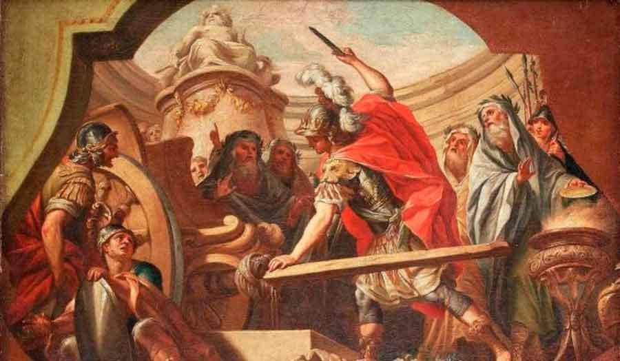 Alejandro Magno y la leyenda del nudo gordiano