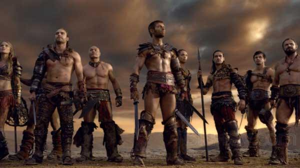 Escena de la serie de Amazon Prime, Spartacus