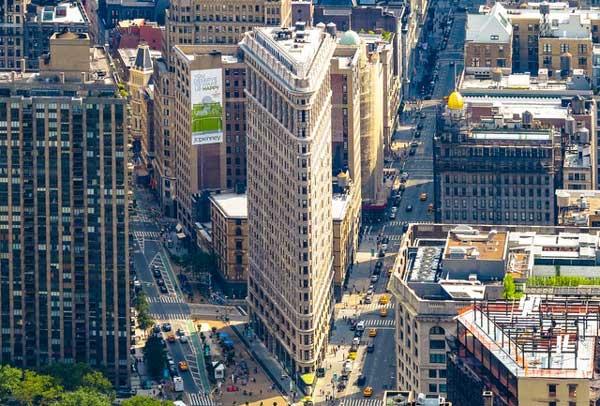 Vista aérea del Flatiron Building